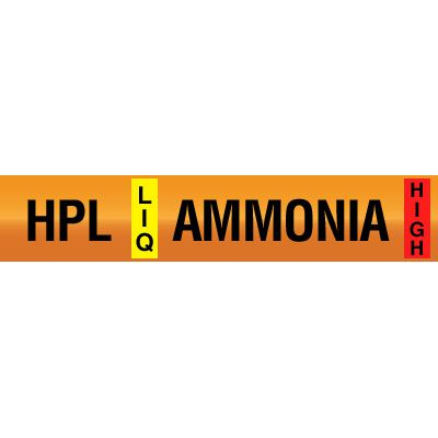High Pressure Liquid - Opti-Code™ Ammonia Pipe Markers