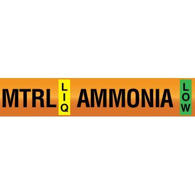 Medium Temperature Recirculated Liquid - Opti-Code™ Ammonia Pipe Markers