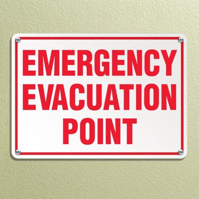 Outdoor Emergency Evacuation Point Sign
