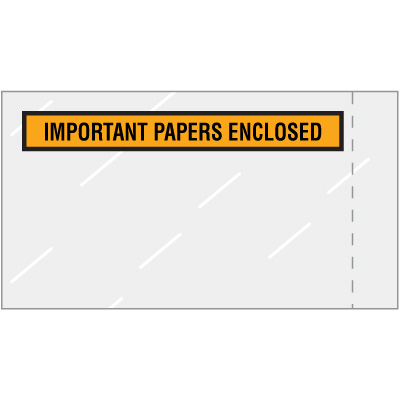 Important Papers Enclosed Packing Envelopes