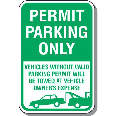 Permit Parking Only Sign