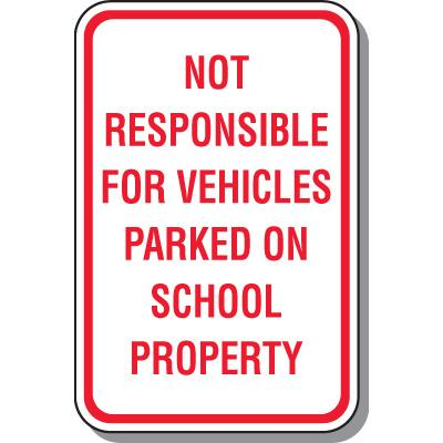School Parking Sign