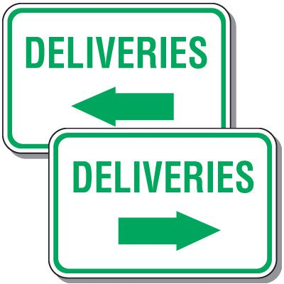 Reserved Parking Signs - Deliveries