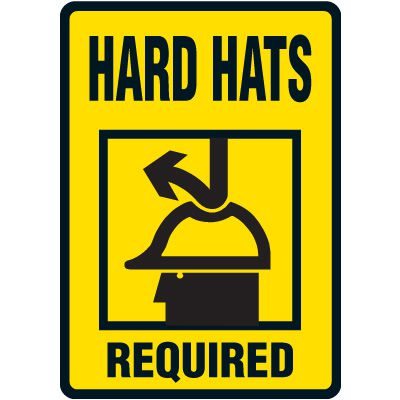 Hard Hat Required Floor Label