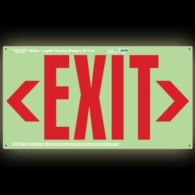 Photoluminescent Wallmount Exit Sign Jessup 7280