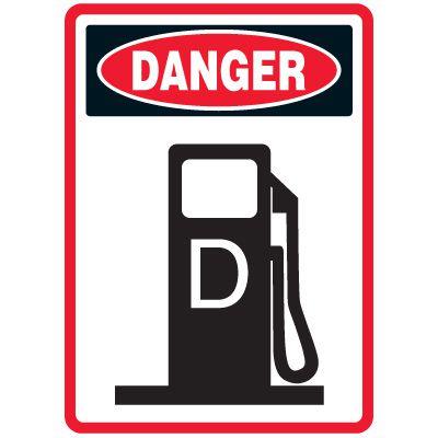 Pictogram Mining Sign - Diesel Fuel