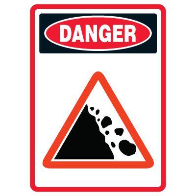 Pictogram Mining Sign - Falling Rock