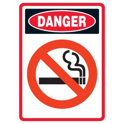 Pictogram Mining Sign - No Smoking