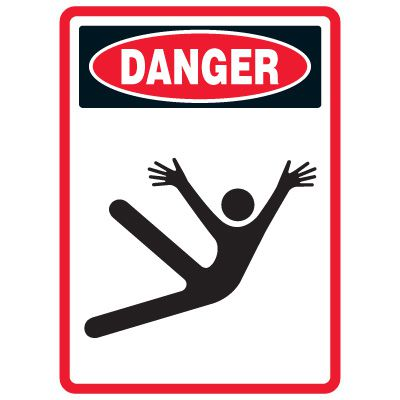 Pictogram Mining Sign - Slippery Surface