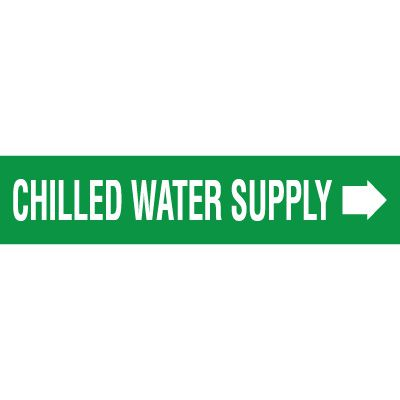 Chilled Water Supply With Arrow Pipe Markers
