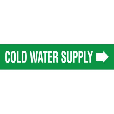 Cold Water Supply Pipe Markers