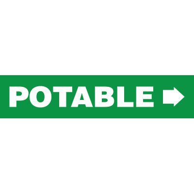 Potable Pipe Markers