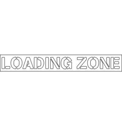 Plastic Wording Stencils - Loading Zone