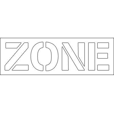 Plastic Wording Stencils - Zone