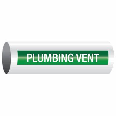 Plumbing Vent - Opti-Code™ Self-Adhesive Pipe Markers