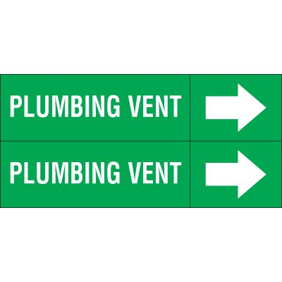 Plumbing Vent - Weather-Code™ Self-Adhesive Outdoor Pipe Markers