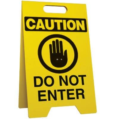 Do Not Enter Portable Floor Stand