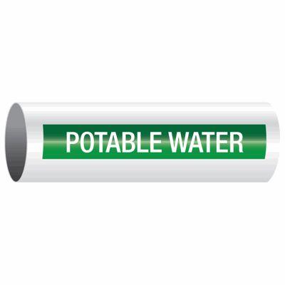 Potable Water - Opti-Code™ Self-Adhesive Pipe Markers