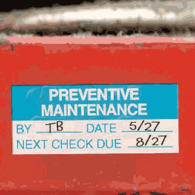 Preventive Maintenance Labels