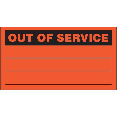 Out Of Service Status Labels