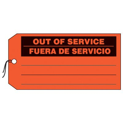 Bilingual Out Of Service Production Status Tags