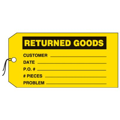 Returned Goods Production Status Tags