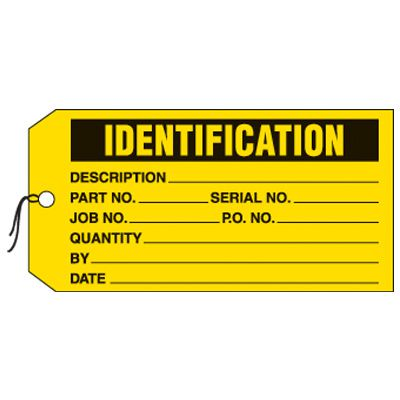 Identification Production Status Tags