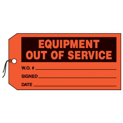 Equipment Out Of Service Production Status Tags