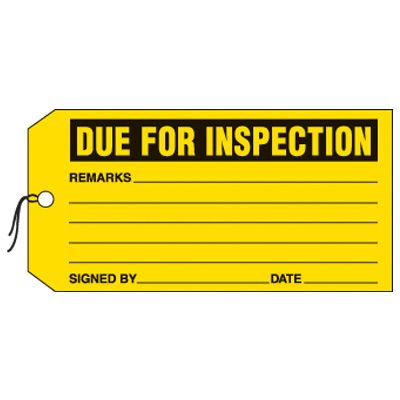 Due For Inspection Production Status Tags