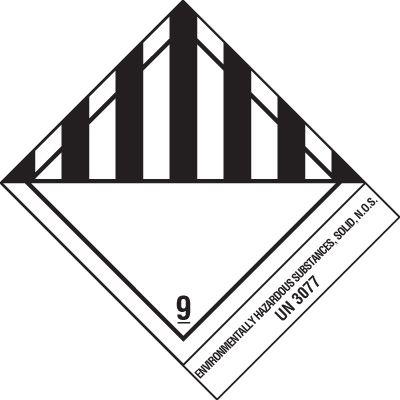 Miscellaneous Dangerous Goods DOT Placard Shipping Labels