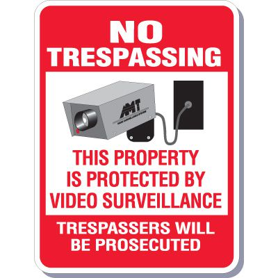 Protected By Video Surveillance Signs