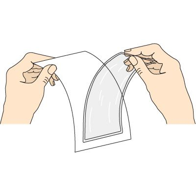 Open-Pocket Adhesive-Backed Protective Holders