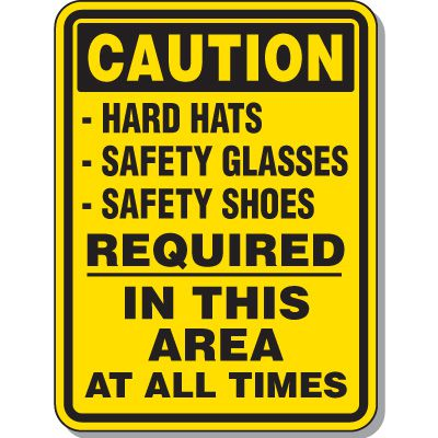 Caution Required In Area Sign