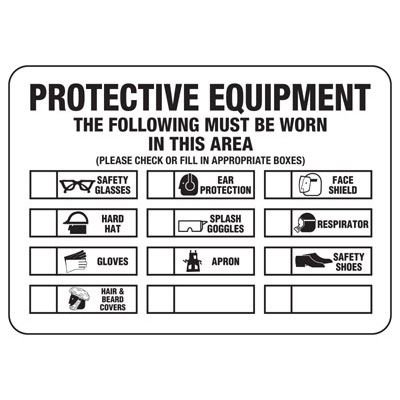 Protective Equipment Sign