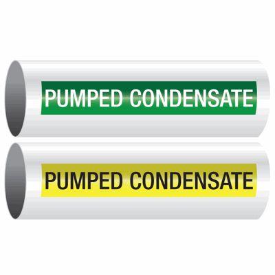 Pumped Condensate - Opti-Code™ Self-Adhesive Pipe Markers