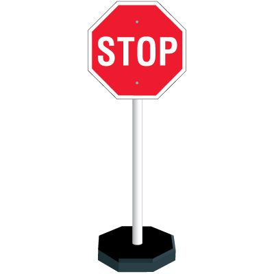 PVC Stop Sign Stanchion Kit