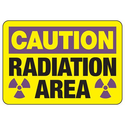 Caution Radiation Area Safety Sign