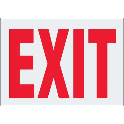 Reflective Emergency Exit Labels