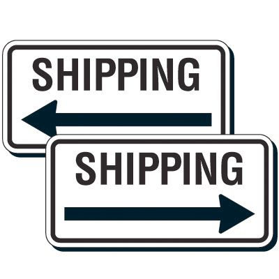 Reflective Parking Lot Signs - Shipping (Left/Right Arrow)