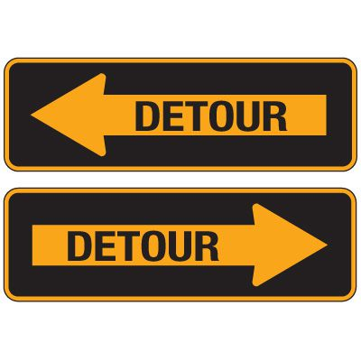 Reflective Traffic Signs - Detour (In Arrow)
