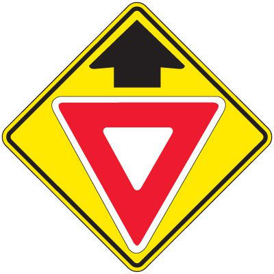 Reflective Warning Signs - Yield (Symbol With Arrow Up)
