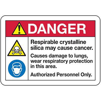 Respirable Silica Signs