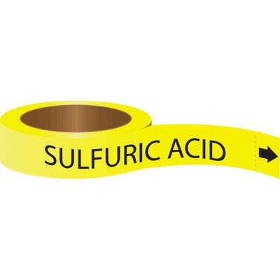 Roll Form Self-Adhesive Pipe Markers - Sulfuric Acid
