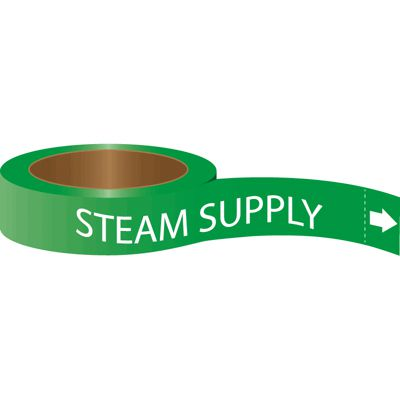 Steam Supply - Roll Form Self-Adhesive Pipe Markers