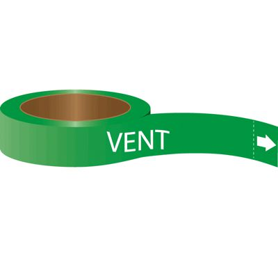 Vent - Roll Form Self-Adhesive Pipe Markers