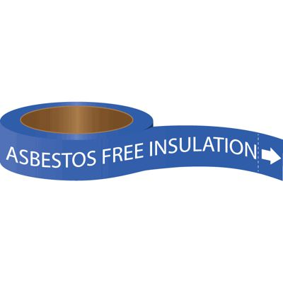 Asbestos Free Insulation - Roll Form Self-Adhesive Pipe Markers