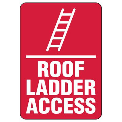 Roof Access Signs - Roof Ladder Access
