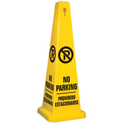 Bilingual No Parking Safety Cone