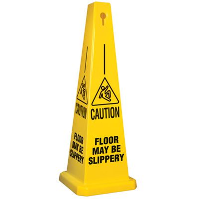 Floor May Be Slippery Safety Cone