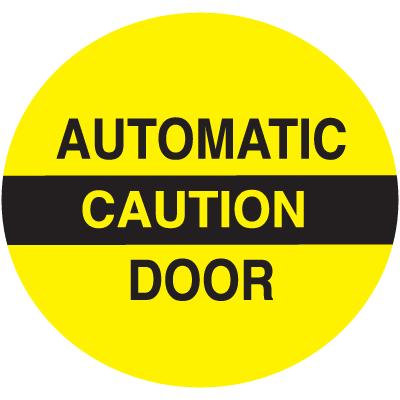 Caution Automatic Door Safety Door And Window Decals